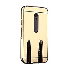 Para Capinha Motorola Espelho Capinha Protetora de Quinas Capinha Cor Única Rígida Metal Motorola Moto G3