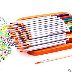 el color soluble en agua de plomo 24 color colorante Lápiz de color lápices de colores para colorear la pintura