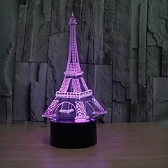 お買い得  LED アイデアライト-3次元ファッションロマンチックなフランスエッフェル塔led夜の光rgb変更可能な気分のランプベッドルームテーブルランプキッズの友達家族の贈り物