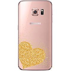 olcso Galaxy S6 tokok-Mert Samsung Galaxy S7 Edge Átlátszó / Minta Case Hátlap Case Szív Puha TPU Samsung S7 edge / S7 / S6 edge plus / S6 edge / S6