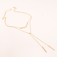 preiswerte Halsketten-Damen Anhängerketten Aleación Modisch Golden Schmuck Party Alltag Normal 1 Stück