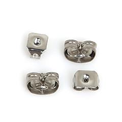 billige Perler- og smykkedesign-beadia 400pcs rustfrit stål øreringe earnuts øreprop smykker fund fit halskæde&armbånd (blandede 2 størrelser)