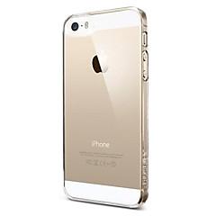 のために iPhone 5ケース クリア ケース バックカバー ケース ソリッドカラー ハード PC iPhone SE/5s/5