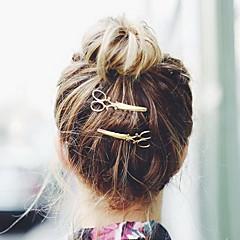 Naiset Metalliseos Päähine-Erikoistilaisuus Syyperäinen Ulkoilma Baretti Hair Clip Hiuspinni 2 osainen