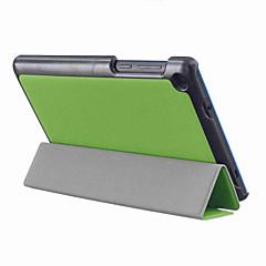 お買い得  タブレット用ケース-ケース 用途 Lenovo フルボディケース / スタンド付き フルボディーケース ソリッド ハード PUレザー のために