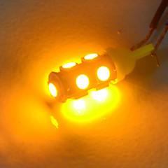 Недорогие Автомобильные фары-JIAWEN 10 шт. T10 Автомобиль Лампы 1.2W SMD 5050 85lm Задний свет / Декоративное освещение / Рабочее освещение