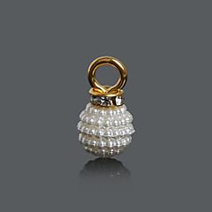 Χαμηλού Κόστους Χάντρες και κατασκευή κοσμημάτων-Διακοσμητικά / Κρεμαστά Plastic Round Shape Ιβουάρ 10Pcs