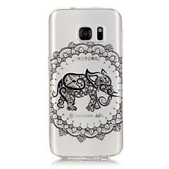 For Samsung Galaxy S7 Edge Transparent Mønster Etui Bagcover Etui Elefant Blødt TPU for Samsung S7 edge S7 S6