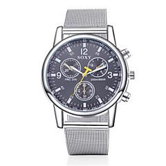 お買い得  大特価腕時計-SOXY 男性用 ドレスウォッチ クォーツ カジュアルウォッチ ステンレス バンド チャーム シルバー