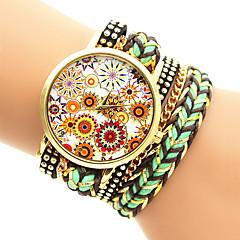 Da donna Orologio alla moda Orologio braccialetto Quarzo Orologio casual Tessuto Banda Multicolore