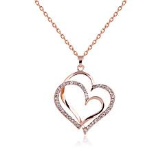 preiswerte Halsketten-Anhängerketten - Strass, Rose Gold überzogen Golden Modische Halsketten Für Party, Alltag