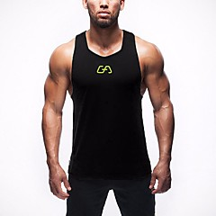 Homens Regata para Academia Secagem Rápida Respirável Blusas para Exercício e Atividade Física Corridas Esportes Relaxantes Corrida Solto