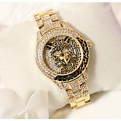 preiswerte Damenuhren-Damen Modeuhr Japanischer Quartz Armbanduhren für den Alltag Edelstahl Band Analog Glanz Leopard Silber / Gold - Silber Golden Rotgold
