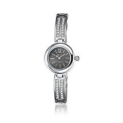 jewelora Mulheres Relógio Elegante Relógio de Moda Quartzo Resistente ao Choque Lega Banda Vintage Pendente Casual Prata Preto