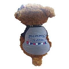 お買い得  犬用ウェア&アクセサリー-犬 Tシャツ 犬用ウェア 文字&番号 Stars ダークグレイ コットン コスチューム ペット用