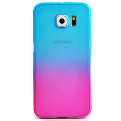 tanie Galaxy S6 Etui / Pokrowce-Kılıf Na Samsung Galaxy Samsung Galaxy S7 Edge Wzór Pełne etui Przejście kolorów Twarde PC na S7 edge S7 S6 edge S6