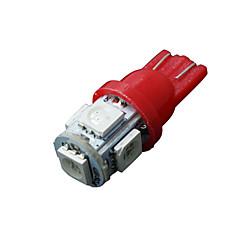 10 x vermelho t10 5-SMD 5050 LED interior lâmpadas W5W 2825 158 192 194 168
