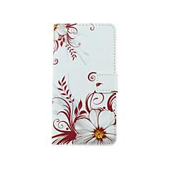 Για Θήκη LG Θήκη καρτών / με βάση στήριξης / με παράθυρο / Ανοιγόμενη / Με σχέδια tok Πλήρης κάλυψη tok Λουλούδι Σκληρή Συνθετικό δέρμα LG