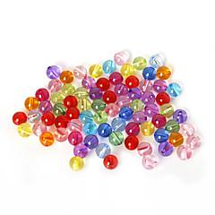 beadia válogatott színes akril gyöngyök 8mm sima kerek műanyag távtartó laza gyöngyök (50g / kb 160pcs)