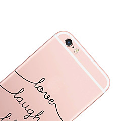 cheap iPhone Cases-Case For Apple iPhone X iPhone 8 iPhone 6 iPhone 6 Plus Pattern Back Cover Word / Phrase Hard PC for iPhone X iPhone 8 Plus iPhone 8