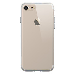 Til iPhone X iPhone 8 iPhone 7 iPhone 7 Plus Etuier Covere Gjennomsiktig Bakdeksel Etui Helfarge Myk TPU til Apple iPhone X iPhone 8 Plus