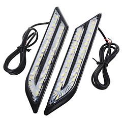 Недорогие Дневные фары-exLED 2pcs Автомобиль Лампы 24 W SMD 5630 500 lm 66 Светодиодная лампа Фары дневного света Назначение