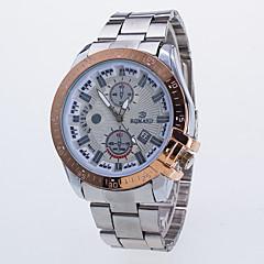 お買い得  メンズ腕時計-男性用 リストウォッチ クォーツ デザイナー / スイスの 合金 バンド ハンズ カジュアル ファッション ローズゴールド - シルバー ブルー ローズゴールド / シルバー