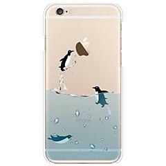 iphone 7 плюс пингвин шаблон тонкий мягкий чехол TPU для iphone 6 / 6с