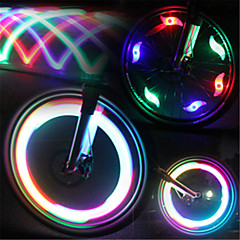 Χαμηλού Κόστους -Φώτα Ποδηλάτου φώτα τροχών φώτα που αναβοσβήνουν καπάκι της βαλβίδας LED Ποδηλασία Αδιάβροχη Φωτιστικό LED Lumens Μπαταρία Ποδηλασία
