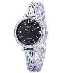 preiswerte Damenuhren-REBIRTH Damen Armband-Uhr / Armbanduhr Schlussverkauf / / Legierung Band Freizeit / Modisch / Elegant Silber / Gold / Zwei jahr / Mitsubishi LR626