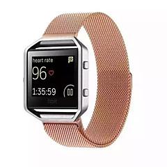 Черный / Роуз / Золотистый / Серебристый Металл Миланский ремешок Для Fitbit Смотреть 23мм