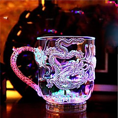 1PC Colorful Color Creative Pub KTV Switch Flash Glass Mugs Led Lamp Night Light LED Drinkware