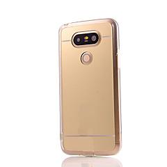 olcso LG tokok-Mert LG tok Galvanizálás / Tükör Case Hátlap Case Egyszínű Kemény Akril LG LG G5