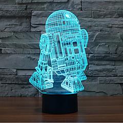 robot dokunmatik karartma 3d led gece ışık 7colorful dekorasyon atmosfer lamba yenilik aydınlatma ışık