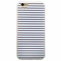 Недорогие Кейсы для iPhone-Кейс для Назначение Apple iPhone 8 / iPhone 8 Plus / iPhone 6 Plus Матовое Кейс на заднюю панель Полосы / волосы Мягкий ТПУ для iPhone 8 Pluss / iPhone 8 / iPhone 6s Plus