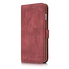 Недорогие Кейсы для iPhone 7 Plus-Кейс для Назначение Apple iPhone X iPhone 8 iPhone 6 iPhone 6 Plus Бумажник для карт Кошелек Other Чехол Сплошной цвет Мягкий Настоящая