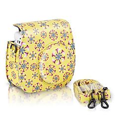 한국 후지 필름 instax 미니 8 즉석 필름 카메라, 노란색를위한 PU 가죽 꽃 패턴 케이스 가방