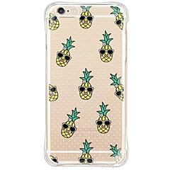 Недорогие Кейсы для iPhone 5-Кейс для Назначение Apple iPhone 6 iPhone 6 Plus Защита от пыли Защита от удара Прозрачный Кейс на заднюю панель Фрукты Мягкий ТПУ для