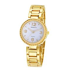 preiswerte Tolle Angebote auf Uhren-REBIRTH Damen Armbanduhr Quartz Schlussverkauf / Legierung Band Analog Freizeit Modisch Schwarz / Gold - Gold Schwarz / Weiß Schwarz