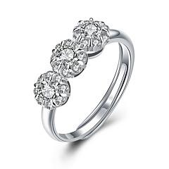 voordelige Ringen-Ringen Sexy / Modieus Bruiloft / Feest / Dagelijks / Causaal Sieraden Sterling zilver Dames Statementringen 1 stuks,Verstelbaar Zilver
