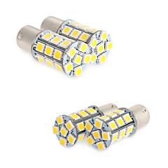 お買い得  自動車用LED電球-4倍速ホワイト1156 ba15sは27-SMD電球テールバックアップRVのキャンピングカー1141を率い