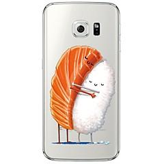 Varten Samsung Galaxy S7 Edge Läpinäkyvä / Kuvio Etui Takakuori Etui Piirros Pehmeä TPU SamsungS7 edge / S7 / S6 edge plus / S6 edge / S6