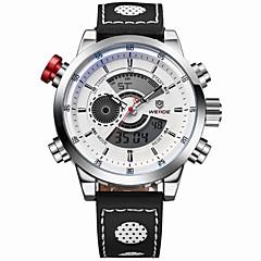 WEIDE Męskie Zegarek na nadgarstek Kwarcowy Kwarc japoński LCD Kalendarz Chronograf Wodoszczelny Dwie strefy czasowe alarm Sportowy Skóra