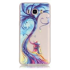 お買い得  Samsung その他の機種用ケース/カバー-ケース 用途 Samsung Galaxy Samsung Galaxy ケース 蓄光 クリア バックカバー 木 ソフト TPU のために J7 (2016) J5 (2016) J3 (2016) J1 (2016) Grand Prime Grand Neo Core