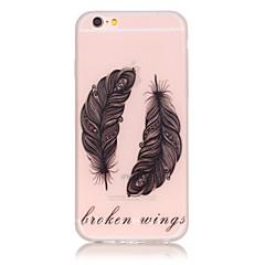 Для Кейс для iPhone 6 / Кейс для iPhone 6 Plus Сияние в темноте Кейс для Задняя крышка Кейс для Перо Мягкий TPU AppleiPhone 6s Plus/6