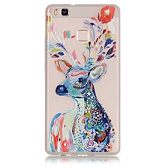 TPU material The New Watercolor Deer Trees Pattern Luminous Phone Case for Huawei P9Lite/P9/P8Lite/Honor 5X