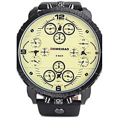 preiswerte Tolle Angebote auf Uhren-SHI WEI BAO Sportuhr Militäruhr Sender Kalender, Drei-Zeit-Zonen, Cool Weiß / Schwarz