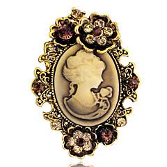 Kadınların yılbaşı hediyesi için kadın moda antika altın, gümüş eski broş pimleri takı kraliçe minyatür yapay elmas broş