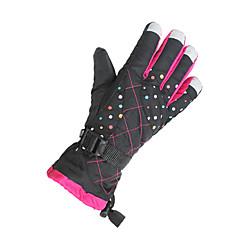 قفازات الدراجة قفازات التزلج للمرأة الدفء ضد الهواء كنفا التزلج