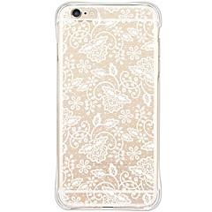 Недорогие Кейсы для iPhone 6 Plus-Кейс для Назначение Apple iPhone 6 iPhone 6 Plus Защита от пыли Защита от удара Прозрачный Кейс на заднюю панель Кружева Печать Мягкий ТПУ